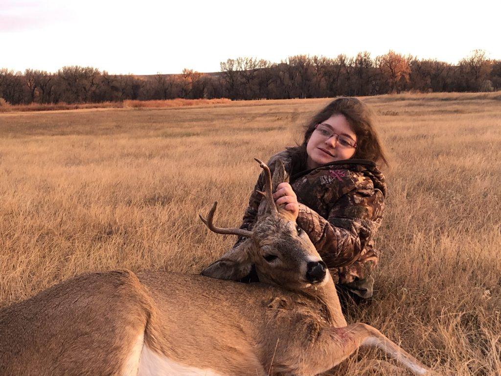 Alex Potter with her first buck